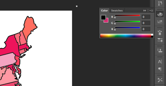 the cursor shows the palet tool used to fill in various colours.